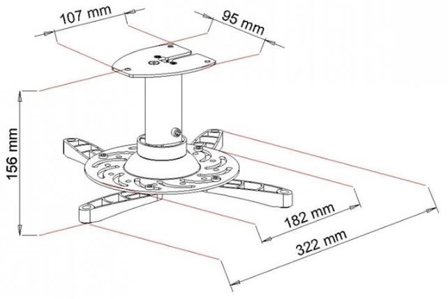 Крепеж Art Ceiling Mount For Projector Silver