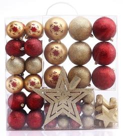 Eglutės žaisliukas DecoKing Susi Gold/Red, 76 vnt.