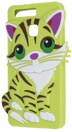 Forcell Soft Silicone 3D Back Case For HTC Desire 530/626/630 Green Cat