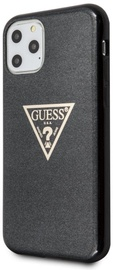 Guess Glitter Triangle Back Case For Apple iPhone 11 Pro Max Black