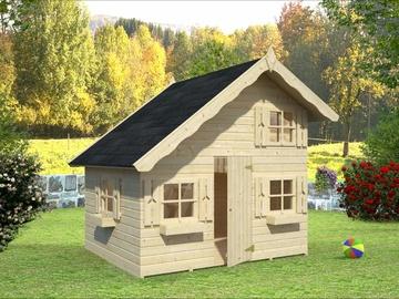 Medinis namelis vaikams Tom su antresole 3,8 m²