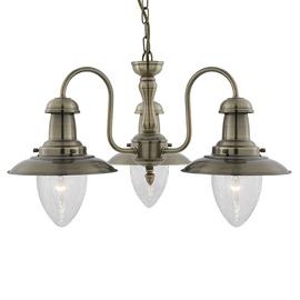 Griestu lampa Searchlight Fisherman 5333-3AB, 3x60W