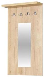 Bodzio Clothes Hanger With Mirror Panama Sonoma Oak