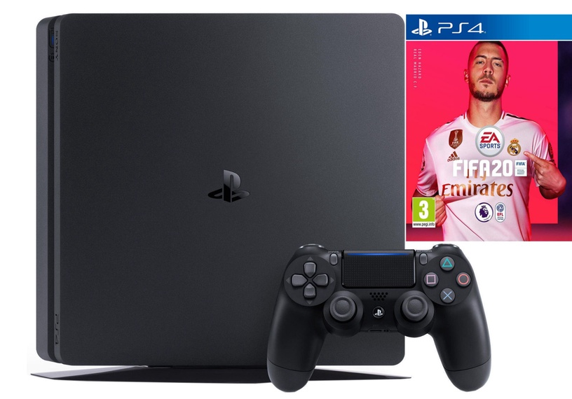 Sony Playstation 4 (PS4) Slim 1TB Black + FIFA 20