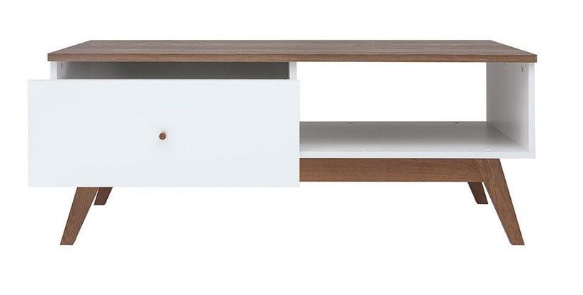 Kafijas galdiņš Black Red White Heda, brūna/balta, 1105x600x455 mm