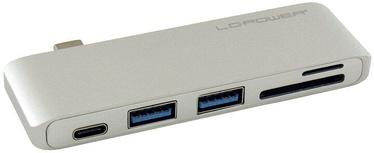 LC-Power USB HUB LC-HUB-C-MULTI-2S Silver