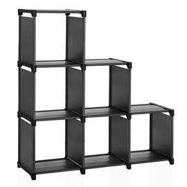Plaukts Songmics Storage, melna, 105 cm x 30 cm x 105 cm