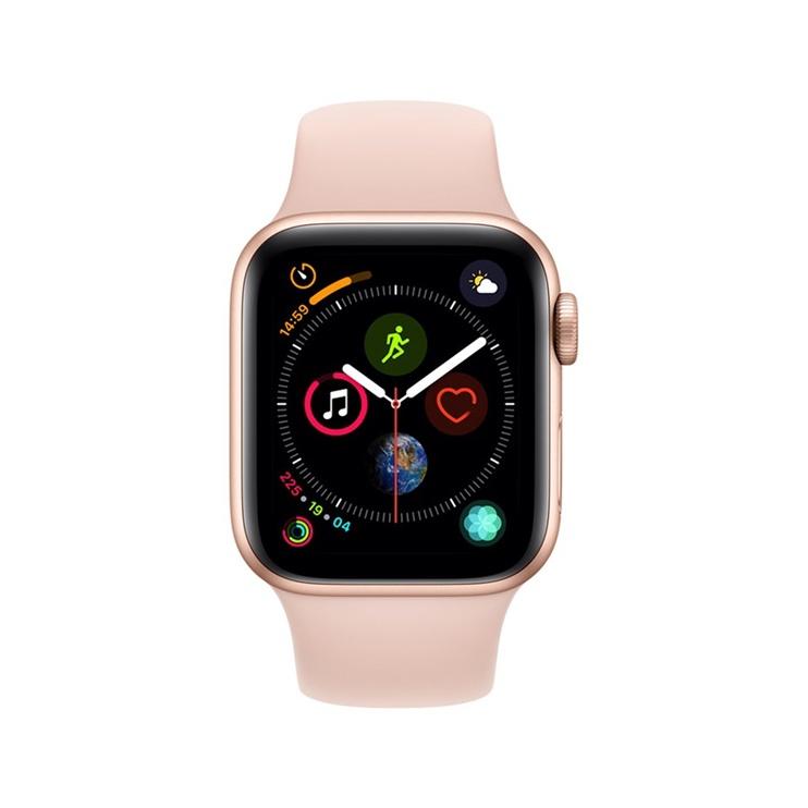 Išmanusis laikrodis Apple 4, 40 mm, auksas/rožinė