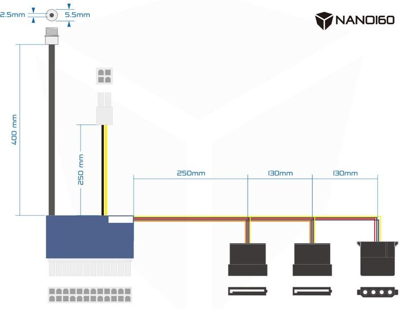Streacom Fanless PSU ST-NANO160 HTPC 160W