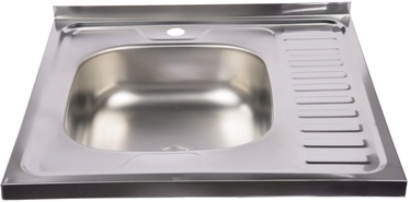 Diana Kitchen Sink Left Chrome 600x600mm
