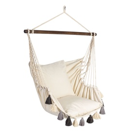 Home4you Tassels Swing Chair White