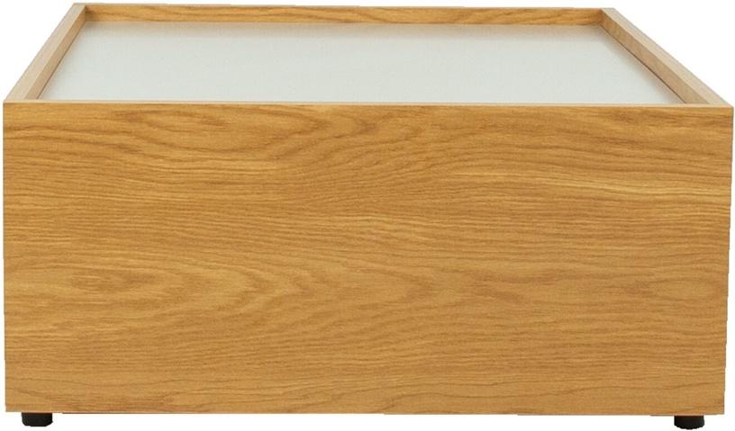 Kavos staliukas Home4you Block, rudas, 980x700x320 mm