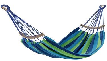 Võrkkiik AmeliaHome Lazara, sinine/roheline, 240 cm