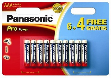 Panasonic LR03PPG Pro Power 6+4 x AAA Batteries