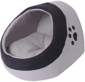 Dzīvnieku gulta - māja VLX Cubby XL, melna/pelēka, 400 mm x 450 mm