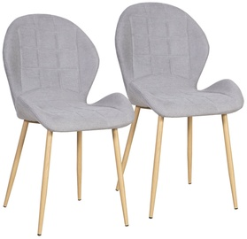 Home4you Chairs Presly Grey 2pcs