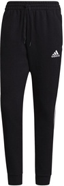 Adidas Essentials Fleece Tapered Cuff 3-Stripes Pants GK8967 Black M
