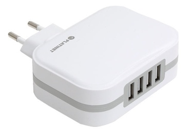 Platinet 4x USB Wall Charger + Micro USB Cable 1m White