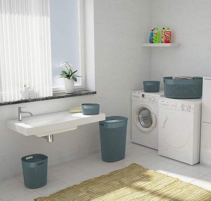 KIS Filo Laundry Hamper With Lid 55l Grey