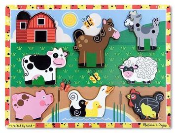 Melissa & Doug Farm Chunky Puzzle 8pcs