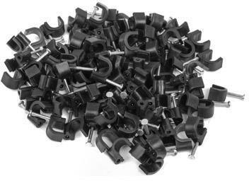 Lanberg Cable Holder 7mm 100pcs Black