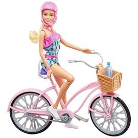 Кукла Mattel Barbie Кукла & Bike FTV96