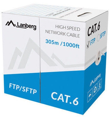 Lanberg Network Cable F/UTP Cat 6 Grey 305m