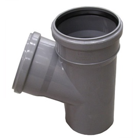 Kanalizācijas caurules trejgabals Wavin D110mm, 67°, PVC