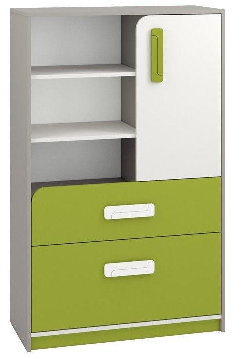 Kumode ML Meble IQ 07 Green, 92x40x140 cm