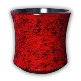 Askovita Ceramic Flower Pot With Saucer Vipa-6 D25cm Red