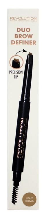 Makeup Revolution London Duo Brow Definer 0.15g Light Brown