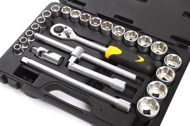 """Sukimo įrankių rinkinys Forte tools 217001/218001, 10-32 mm, 1/2"""", 25 vnt."""