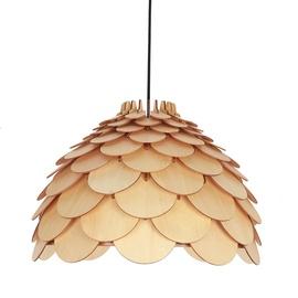 Light Prestige Burgo Large Hanging Lamp E27 60W Wood