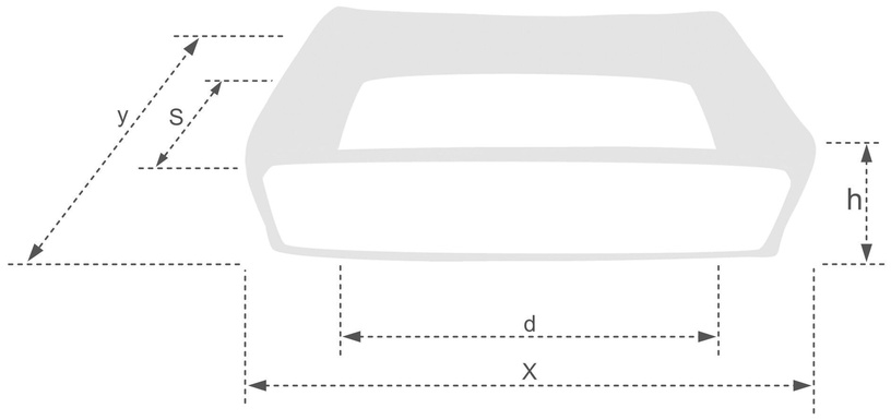 Лежанка Amiplay Babydoll Sofa M 68x56x18cm Gray