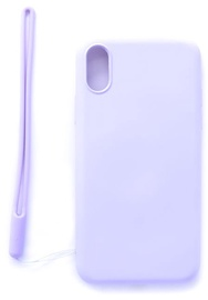Evelatus Soft Touch Back Case With Strap For Apple iPhone X/XS Purple