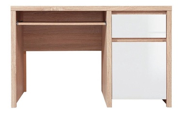 Black Red White Desk Kaspian BIU1D1S/120 Sonoma Oak Gloss White