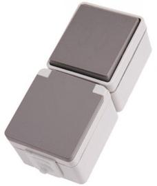 Hager IP44/55 16002701 Grey
