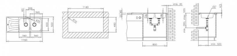 Teka Universo Kitchen Sink 2C 1E CN Stainless Steel