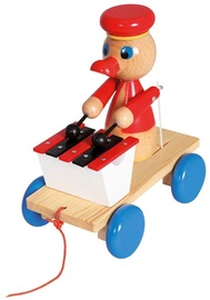 Bino Wooden Toy Pull Along Duck With Xylophone