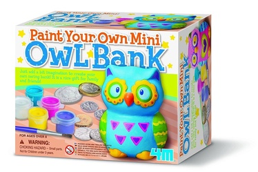 4M Mini Paint Your Own Mini Owl Bank