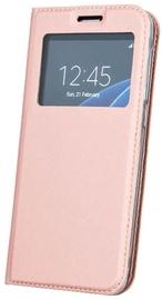 Blun Premium Matt Eco-leather Smart S-View Book Case For Huawei Mate 10 Lite Pink