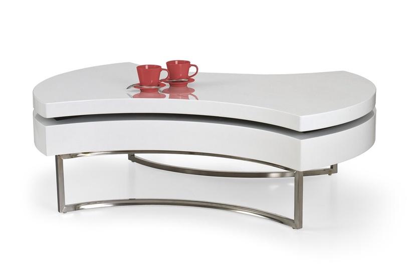 Kavos staliukas Halmar Aurea White, 1150x800x380 mm