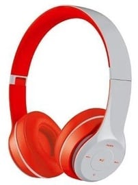 Omega Freestyle FH0915 On-Ear Headphones Gray/Red
