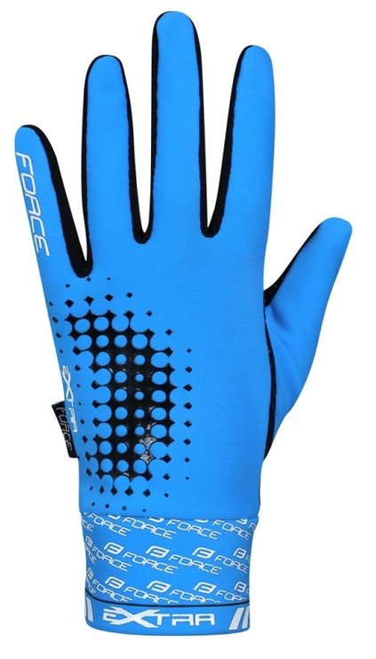 Force Extra 17 Full Gloves Blue/Black S