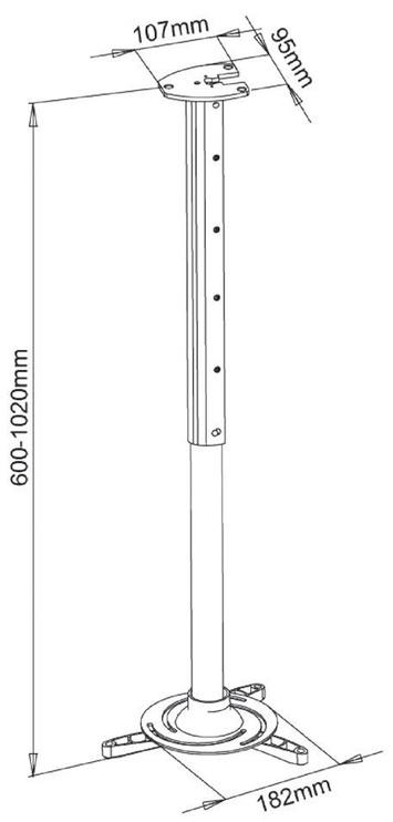 Крепеж ART P-105 Projector Holder 60-102cm Black