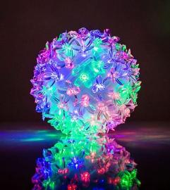 EV LED 80 Ball with Flowers Multi Color D13cm