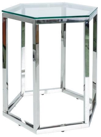 Kafijas galdiņš Signal Meble Modern Lawa Conti, caurspīdīga/sudraba, 490x410x500 mm