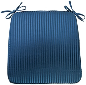 Home4you Chair Pad Silk Stripe 39x39cm Blue