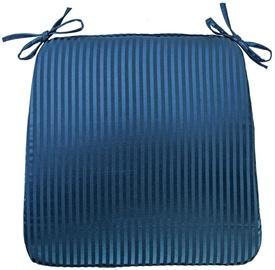 Home4you Chair Pad Silk Stripe 39x39cm Blue