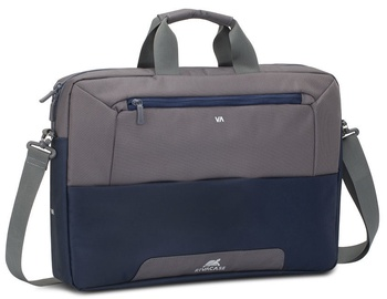 Rivacase Suzuka Laptop Shoulder Bag 17.3'' Steel Blue/Grey
